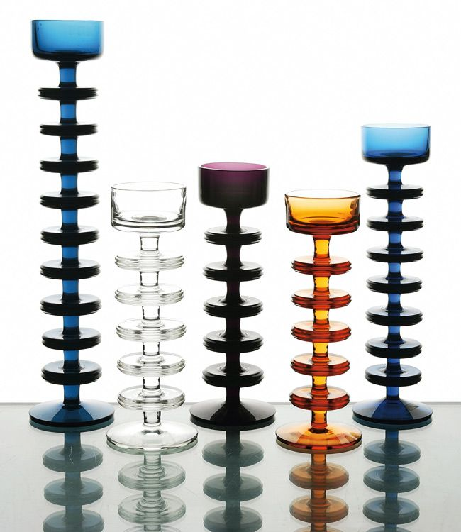 "A Modern set of ""Sheringham"" candleholders, designed by Ronald Stennett-Willson for Wedgwood, from Miller's personal collection."