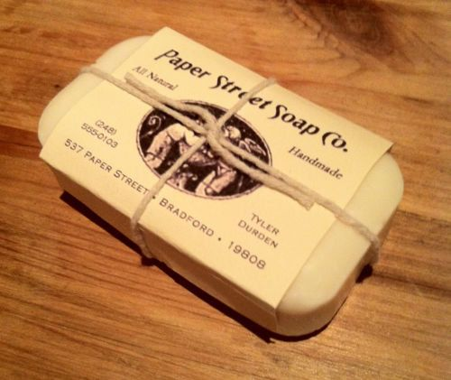 Fight Club Paper Street Soap Company Soap Bar by SpaceAgeProps