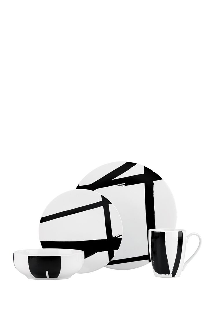 Urban Graffiti Black Dinnerware 4-Piece Place Setting by Lenox DKNY on @nordstrom_rack
