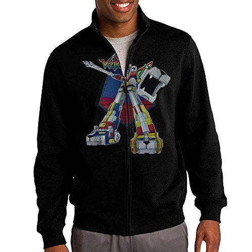 Zepu Mens Sweatshirt Voltron Blazing Sword Fullzip Hoodie Jacket XXL Black >>> Continue to the product at the image link.