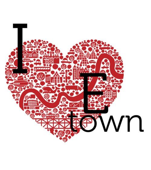 jason blower's 'i heart etown' illustration