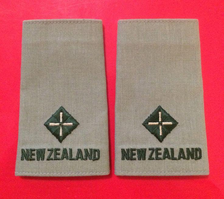 New Zealand Army Service Dress Second Lieutenant Rank Slides
