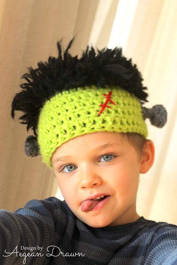 Frankentstein sombrero para niños sombrero del por AegeanDrawn