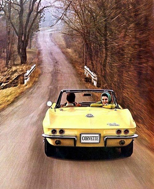 Sunshine Yellow Corvette