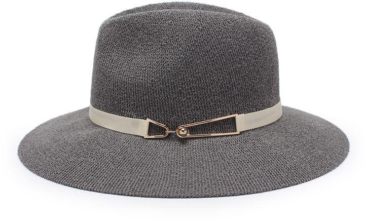 Shein Straw Fedora Hat