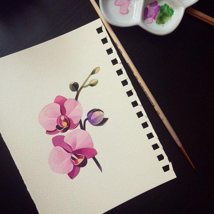 #orchid #sashaunisex #watercolor ✨✨