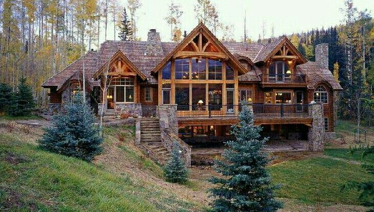 Pin By Lizy Colon On Log Home Cabin Homes Log Cabin Homes Craftsman House