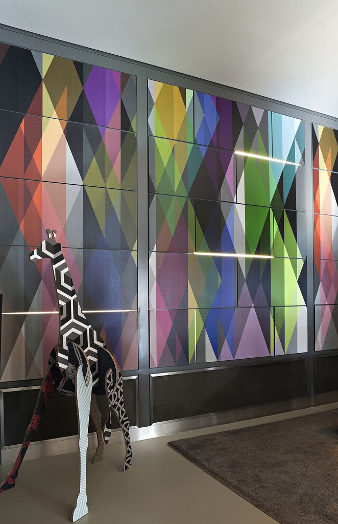Andaz, London, with Geometric by Cole and Son.. From You Have Been Here Sometime