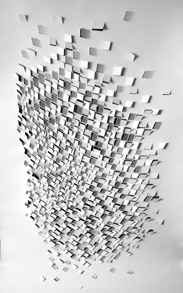 For his first solo show at The Loft Art Lower Parel in Mumbai in Feb 2012, indian paper artist Sachin Tekade deconstructed architecture and patterns created as a consequence of seismic activity. Flowing patterns and dynamic blasts characterize the works in this series.