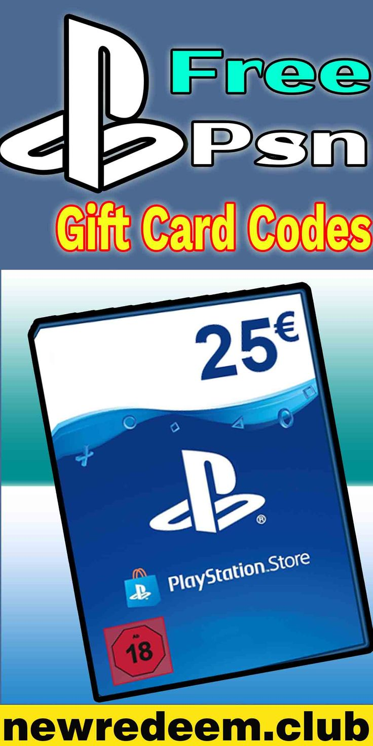 PlayStation Store 25 Gift Card in 2020 Free gift cards