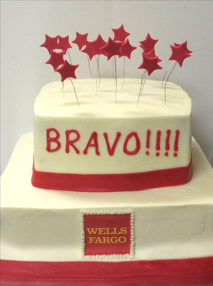 Wells Fargo celebration cake.