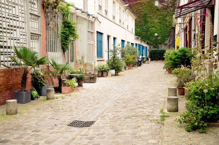 Paris, rue Oberkampf, Cité du Figuier