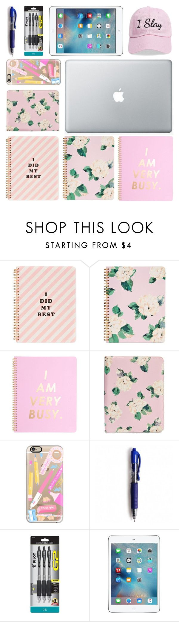"""""""1/7    School Supplies"""" by emiliajf ❤ liked on Polyvore featuring interior, interiors, interior design, home, home decor, interior decorating, ban.do, Casetify, Pilot and Apple"""