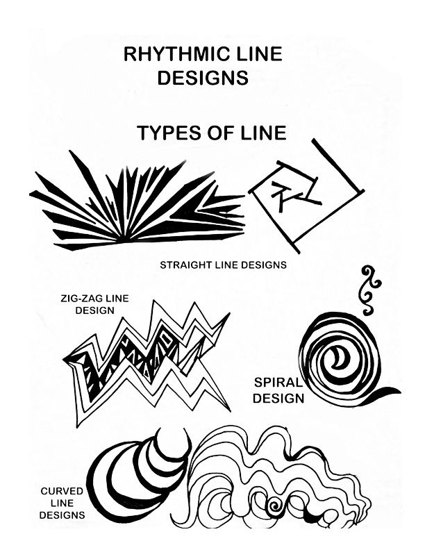 The Helpful Art Teacher: Elements of Art and Principles of Design:The Straight Line