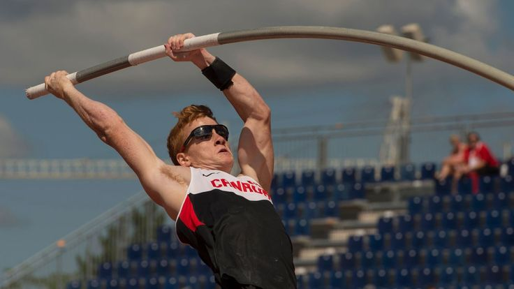 Shawnacy Barber vaulted to a new Pan Am record at Toronto 2015 on July 21, 2015.