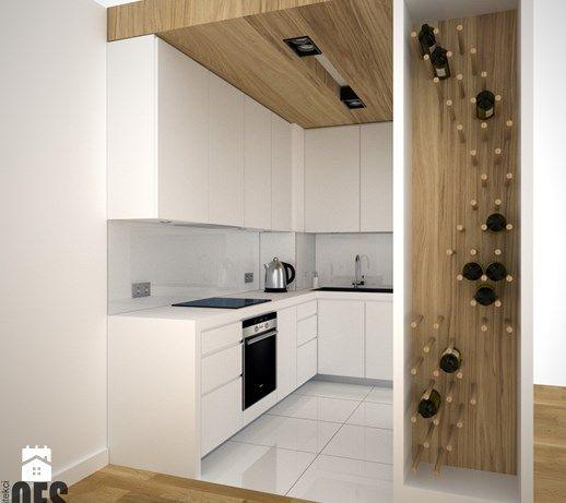 Aranżacje wnętrz - Kuchnia: Projekt małej kuchni - Mała otwarta kuchnia w kształcie litery l w aneksie, styl minimalistyczny - OES architekci. Przeglądaj, dodawaj i zapisuj najlepsze zdjęcia, pomysły i inspiracje designerskie. W bazie mamy już prawie milion fotografii!