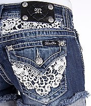 To cute lace miss me shorts