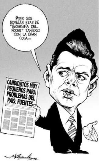 Caricaturas Politicas: Peña Nieto y Carlos Fuentes