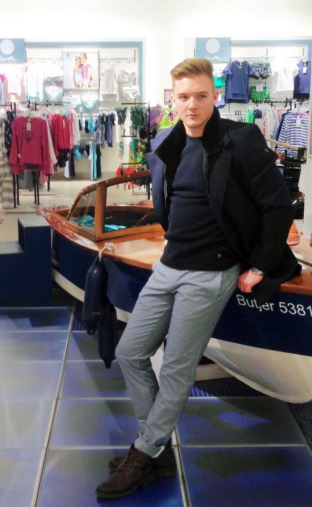 Outfit der Woche! Mantel: Cinque – Pullover: Marc O'Polo – Chino: Tommy Hilfiger #fashion #ootw