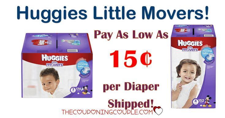 HOT BUY ON DIAPERS! Pay as low as $0.15 per diaper shipped for Huggies Little Movers Diapers! Definitely the best price around on these!  Click the link below to get all of the details ► http://www.thecouponingcouple.com/huggies-little-movers-diapers/ #Coupons #Couponing #CouponCommunity  Visit us at http://www.thecouponingcouple.com for more great posts!