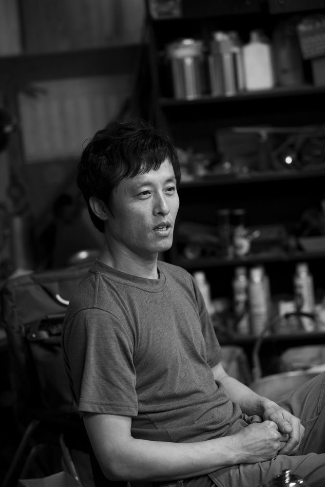 Bahk Jong Sun in his studio