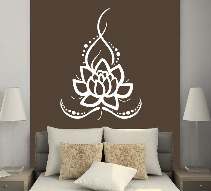 wall decals yoga lotus indian buddha decal vinyl sticker home decor ms625 - Design Wall Decal