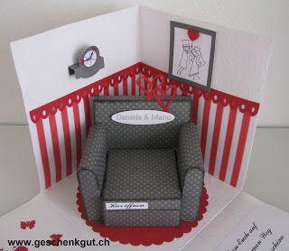Überraschungsbox Geldgeschenk Gutschein Hochzeit Wohnungseinrichtung Möbel