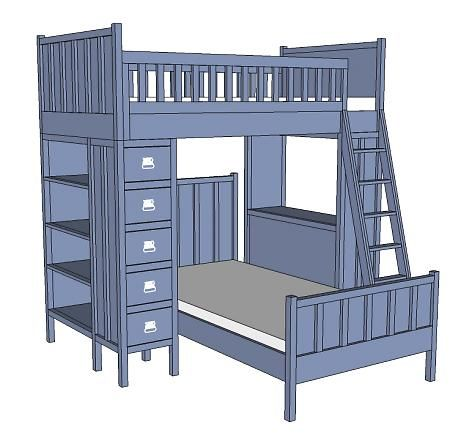 Bunk Bed With Desk On Bottom Bunk Bed With Bottom Desk