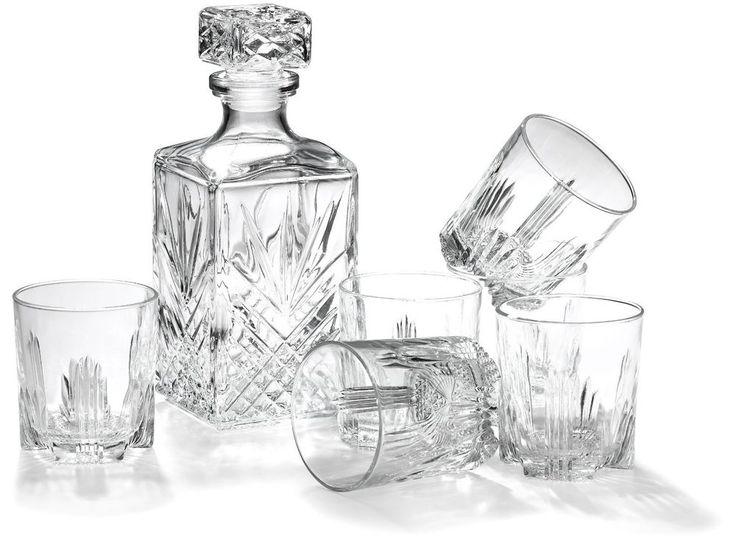 Whiskyset Whisky - Set 6 Gläser + Karaffe Selecta WHISKEY Italy Geschenkidee X46