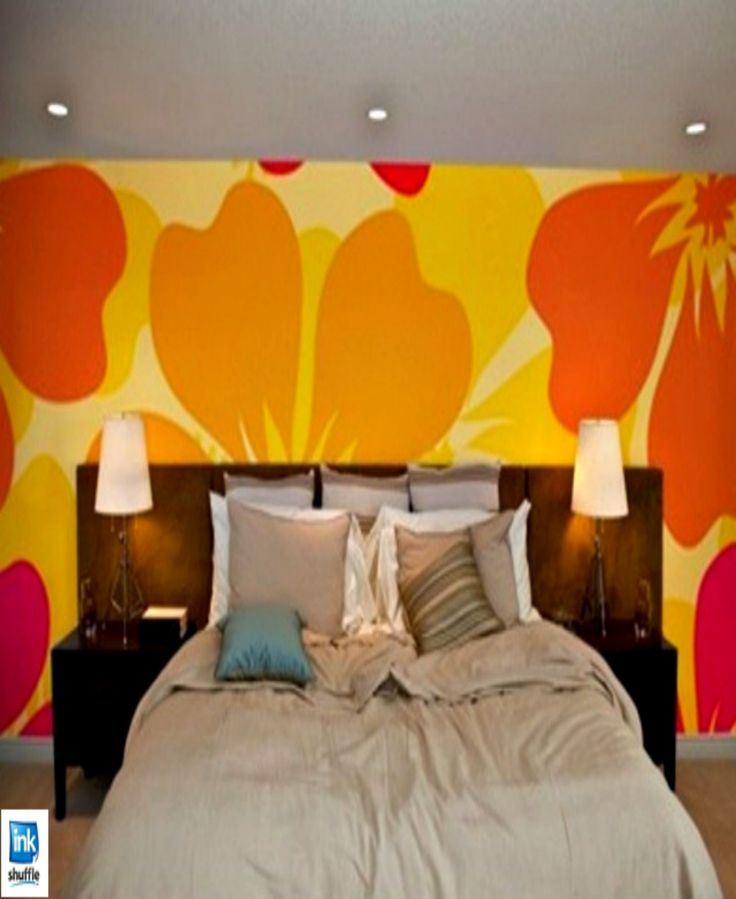 Customized #floral (hibiscus) themed- wall mural.