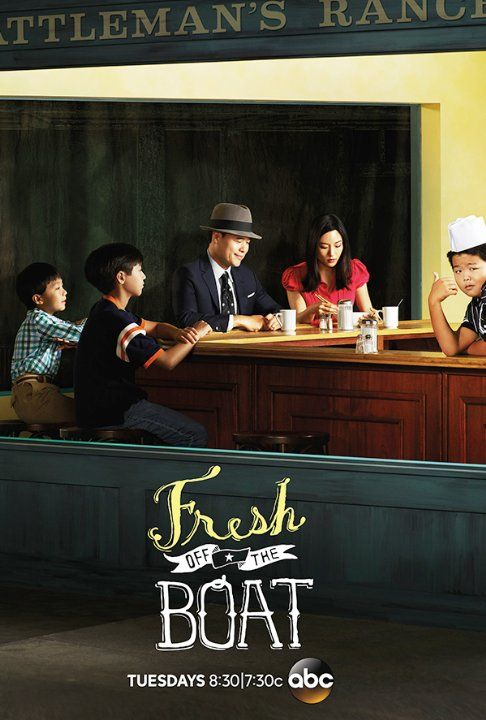Lucille Soong, Randall Park, Constance Wu, Forrest Wheeler, Ian Chen and Hudson Yang in Fresh Off the Boat (2015)