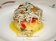 Cuina amb la mestressa: Timbal de patatas trufadas con salmón y gulas al ajillo
