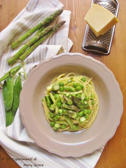 #Spaghetti dell'Orto con Crema di #ParmigianoReggiano. la #Primavera è nel piatto!