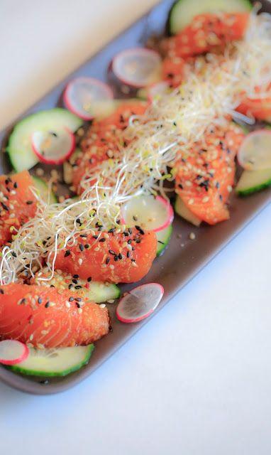 majas kokvrå: Sashimi soja-pepparrot-ingefära