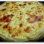 Tarta de ostras y queso