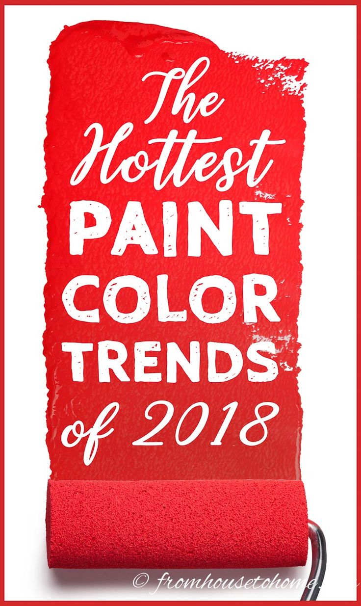 GREAT list of 2018 paint color trends from all of the major paint companies (Benjamin Moore, Sherwin Williams, Behr, Pantone and others). I love that I can see them all in one place with pictures of what the colors look like in interior design. #2018coloroftheyear #2018paintcolortrends #ColorTrends #PaintColors