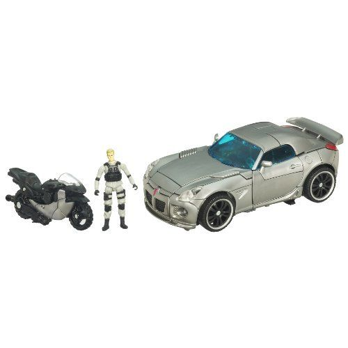 Transformers Human Alliance - Autobot Jazz by Hasbro. $97.99. Human ally figure rides on motorcycle vehicle or blaster accessory and inside the car in vehicle mode. Includes Captain Lennox action figure and Autobot Jazz robot-to-vehicle figure. Recreate exciting movie scenes or create your own. Features a launching missile accessory and converts to Pontiac Solstice car in vehicle mode. Motorcycle vehicle converts to shielded blaster accessory. From the Manufacturer ...