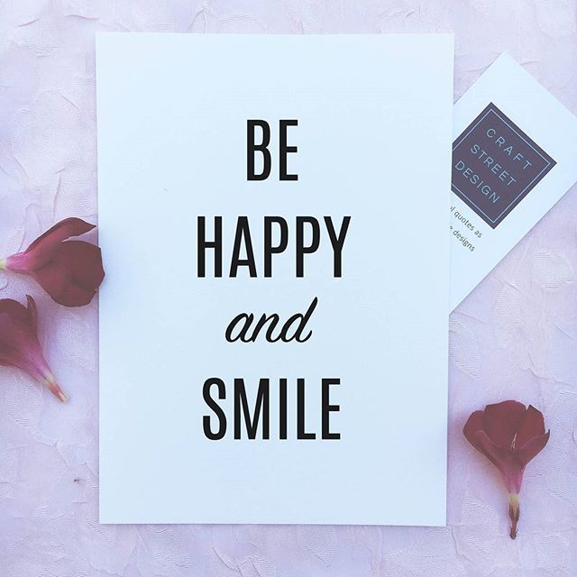 - Design - Details Hang this beautiful 'Be Happy and smile' inspirational print on your walls ◦ Materials: Archival Paper, Ink, Love ◦ Made to order ◦ Frame is not included in the purchase ◦ Handmade