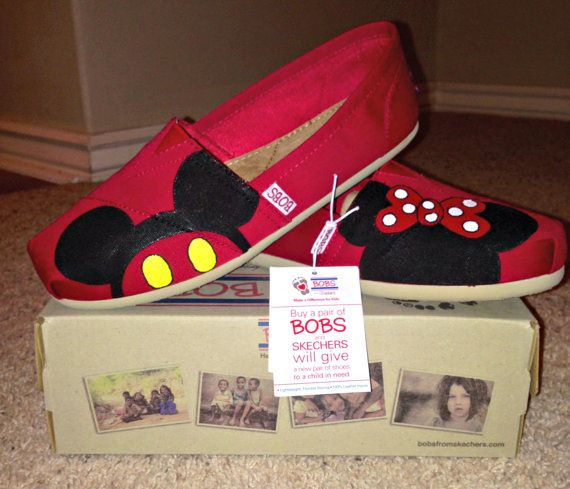 Mickey + Minnie Inspired (Full Color) Custom BOBS Shoes