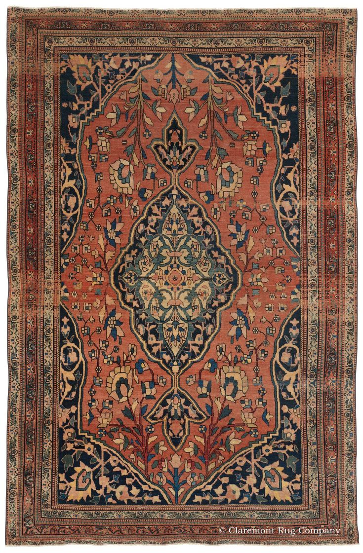 FERAHAN SAROUK, West Central Persian 4ft 2in x 6ft 4in 3rd Quarter, 19th Century