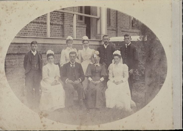 231311PD: Staff of the Colonial Hospital, Perth, 1895.  http://encore.slwa.wa.gov.au/iii/encore/record/C__Rb3031141__S231311PD%3A%20Staff%20of%20the%20Colonial%20Hospital%2C%20Perth%2C%201895__Orightresult__U__X1?lang=eng&suite=def