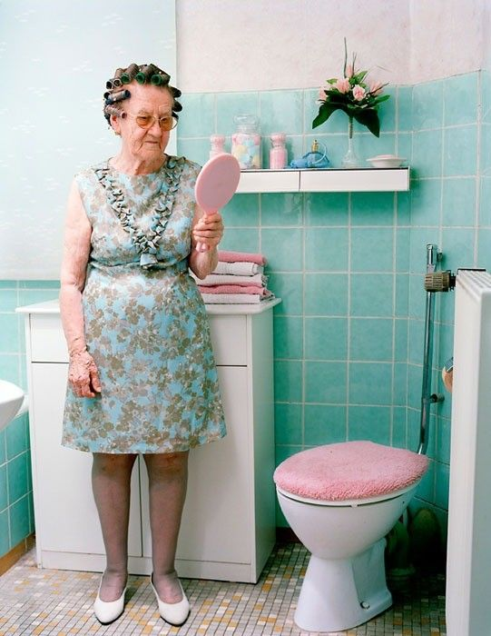 """This photograph shows my 90-year old grandmother in her bathroom. From the series """"Mutters Schuhe"""" (Mother's Shoes) © Nina Roeder."""