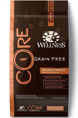 Wellness CORE Natural Grain Free Dry Dog Food Original Turkey & Chicken 26-Pound Bag