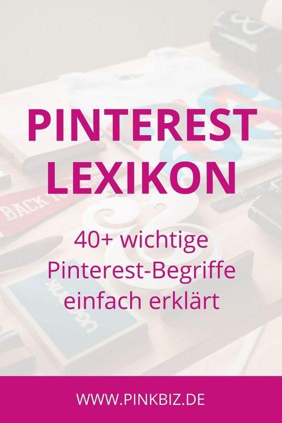 Das Pinterest-Lexikon – 40+ wichtige Pinterest-Begriffe einfach erklärt – Margarita