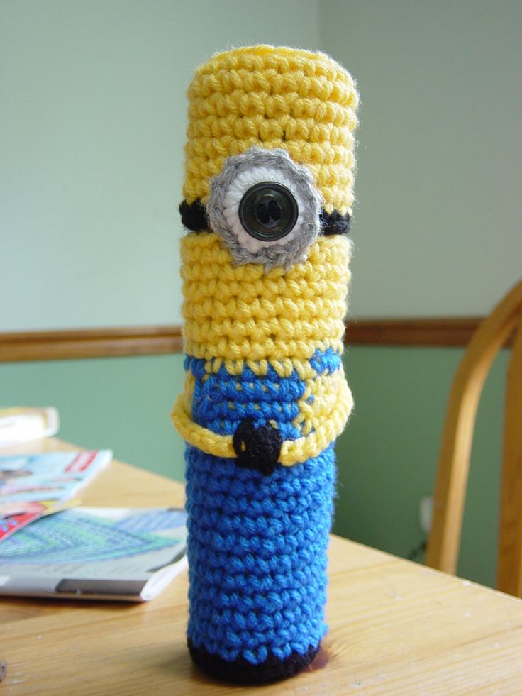Amigurumi Bunny Pencil Holder : Minion pencil holder crochet pinterest