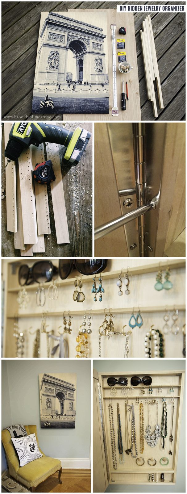 DIY Hidden Jewelry Organizer