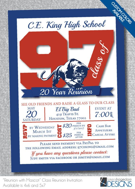 28 best CLASS AND FAMILY REUNION INVITATIONS images on Pinterest - class reunion invitations templates