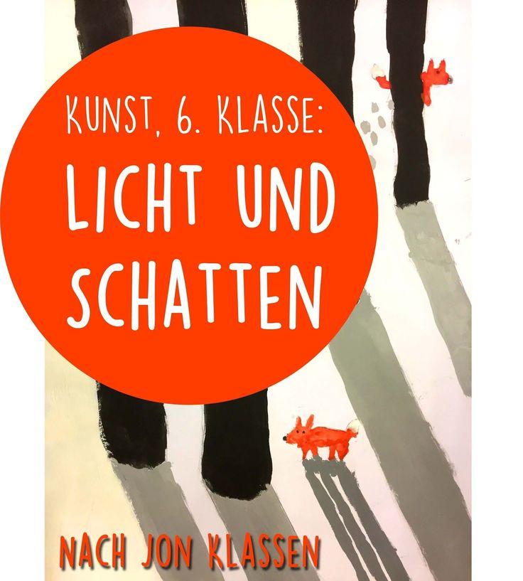 """Kunst, 5. / 6. Klasse: Licht und Schatten - nach Jon Klaassen (""""Mein Freund Pax"""")"""