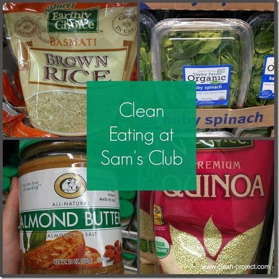 clean eating at sams club