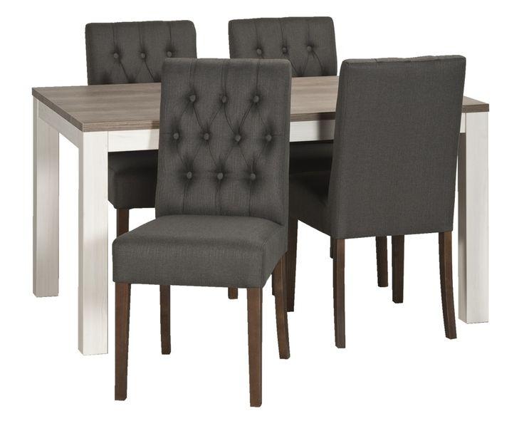 Eetkamertafel Lynn met stoel Sinatra : Chice en stoere stoelen set voor maximaal comfort.